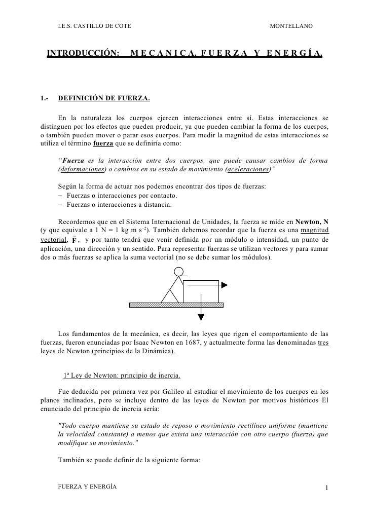 I.E.S. CASTILLO DE COTE                                                 MONTELLANO      INTRODUCCIÓN:               M E C ...