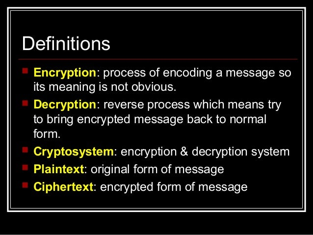 Basic Encryption Decryption Chapter 2