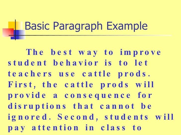 student behavior essay