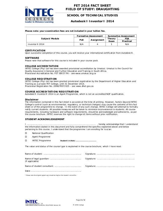 Intec Autodesk Inventor 2014 Certification