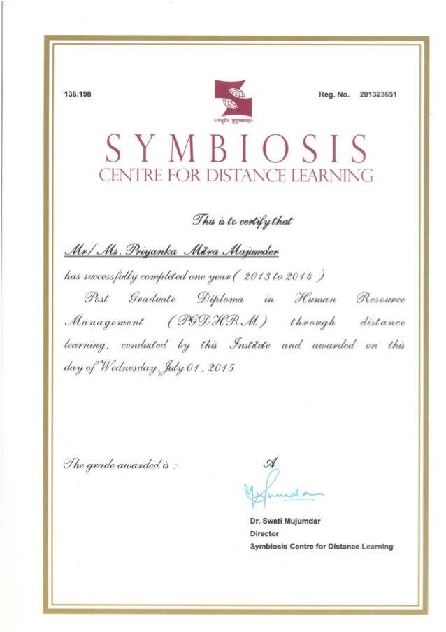 PGDHRM Certificate