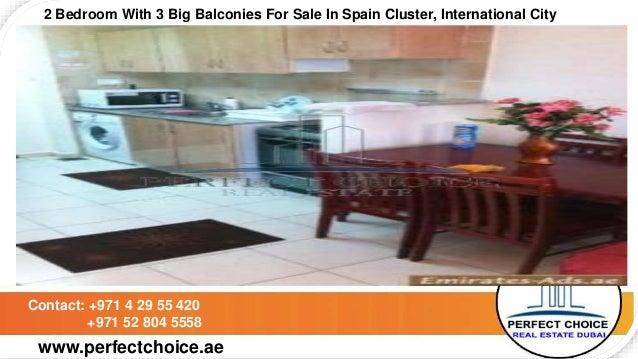 2 bedroom with 3 big balconies for sale in spain cluster  international  city dubai. 2 bedroom with 3 big balconies for sale in spain cluster  internation