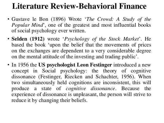 review of behavioral finance