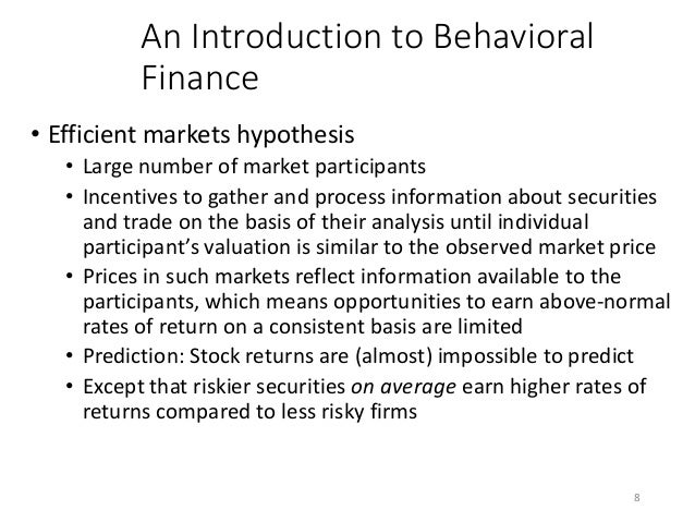 behavioral finance a challeng to Often, the answer is behavioral in nature research shows that investors often buy too high and sell too low, underscoring the role of emotional decision making in investing for financial advisors, the challenge is to cultivate strategies for becoming effective managers of behavior, not just managers of money.