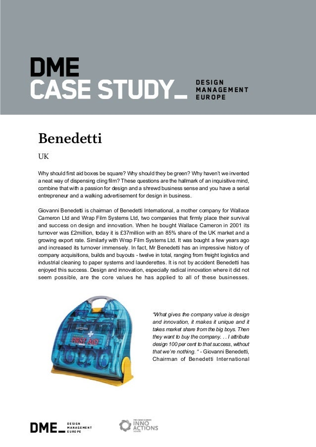 dme_design management europe design management europe Benedetti UK Why should first aid boxes be square? Why should they b...