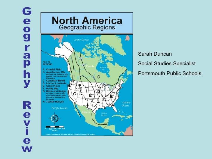 Geography Review Sarah Duncan Social Studies Specialist Portsmouth Public Schools