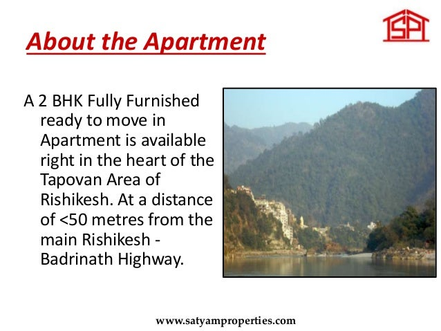 2 BHK Apartment in the heart of Tapovan near Laxman Jhulla,Rishikesh Slide 2