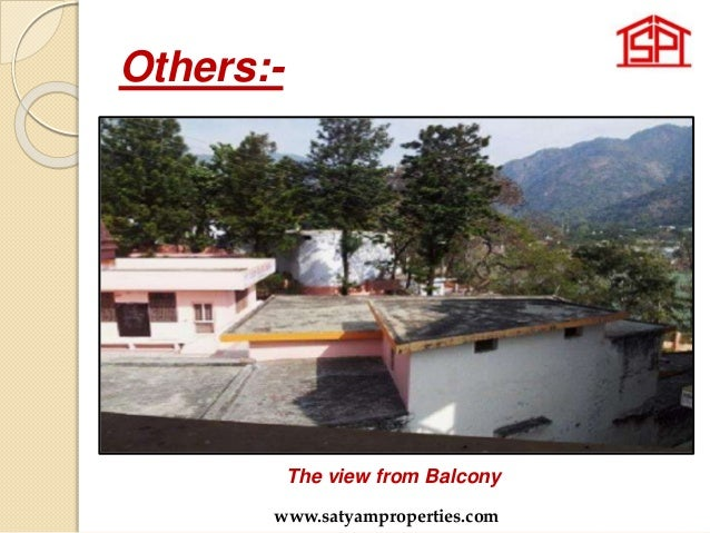 Others:- The view from Balcony www.satyamproperties.com