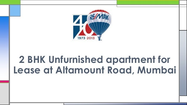 2 BHK Unfurnished apartment for Lease at Altamount Road, Mumbai