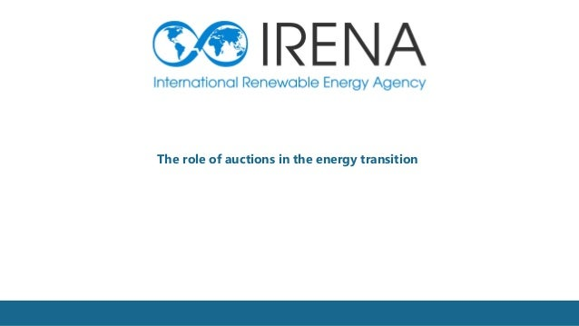 1 The role of auctions in the energy transition