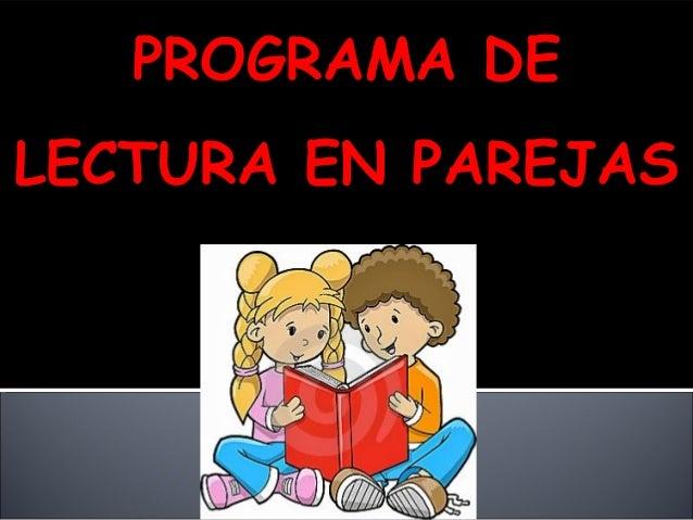 PROGRAMA DE LECTURA EN PAREJAS