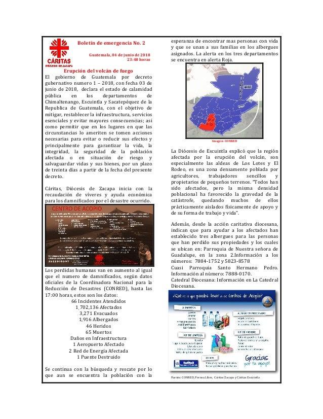 Erupcióndelvolcándefuego El gobierno de Guatemala por decreto gubernativonumero1–2018,confecha03de jun...