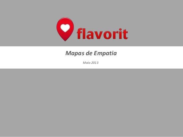 Mapas de EmpatiaMaio 2013