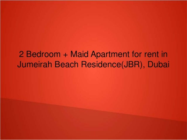 2 Bedroom Maid Apartment For Rent In Jumeirah Beach Residence Jbr