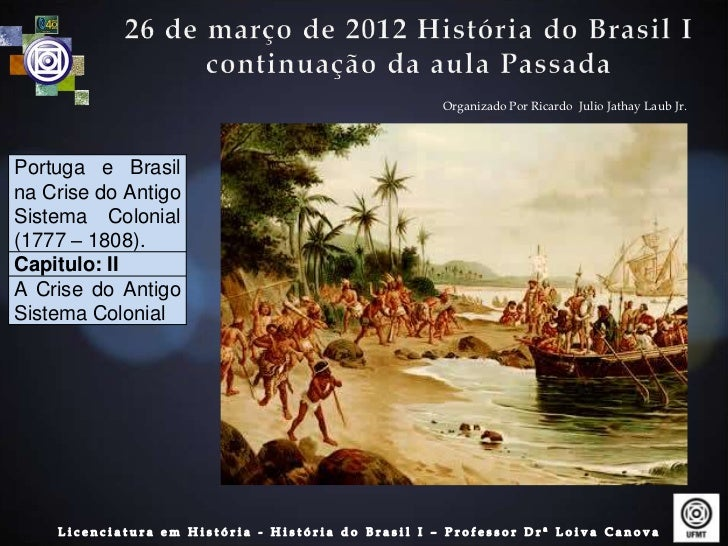 Organizado Por Ricardo Julio Jathay Laub Jr.Portuga e Brasilna Crise do AntigoSistema Colonial(1777 – 1808).Capitulo: IIA ...