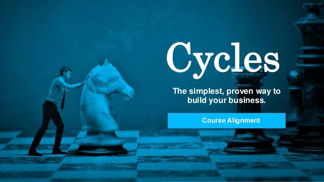 Cycles The simplest, proven way to build your business. Course Alignment