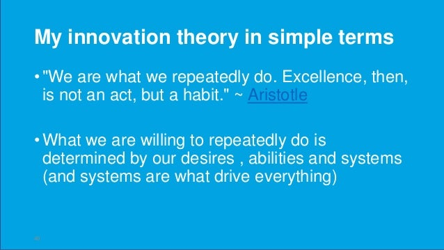 The goal : Level 1 to Level 3 LEVEL 1 - INNOVATION AS AN EVENT This is where most companies find themselves. They conduct ...