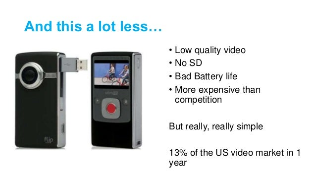 And this a lot less… • Low quality video • No SD • Bad Battery life • More expensive than competition But really, really s...