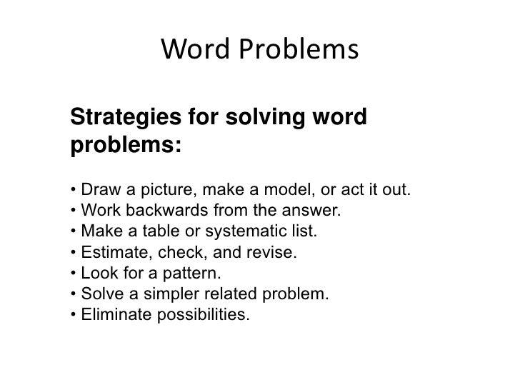 real world problem solving strategies