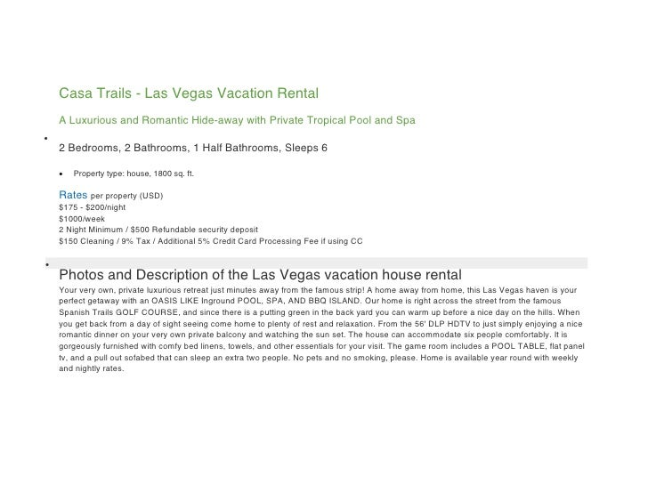 Casa Trails - Las Vegas Vacation Rental     A Luxurious and Romantic Hide-away with Private Tropical Pool and Spa      2 ...