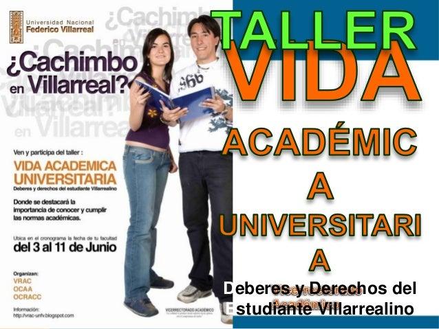 Deberes y Derechos del Estudiante Villarrealino