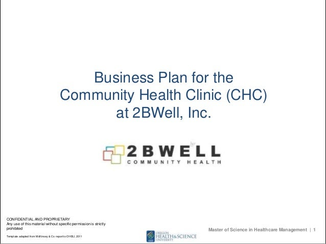 Community clinic business plan business plan for thecommunity health clinic chcat 2bwell incnfidential and flashek Image collections