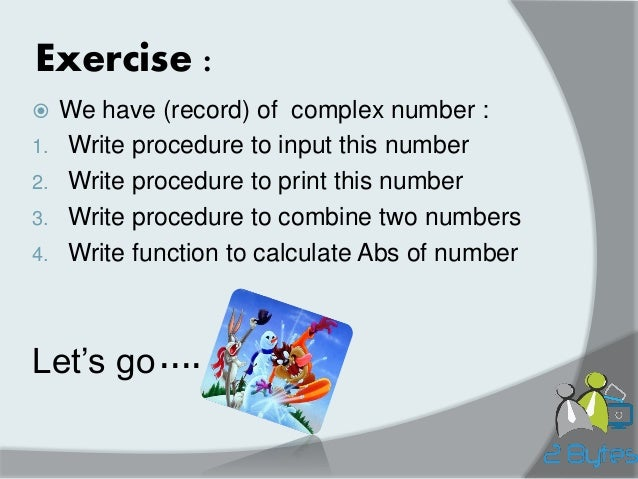 Operations with one complex number