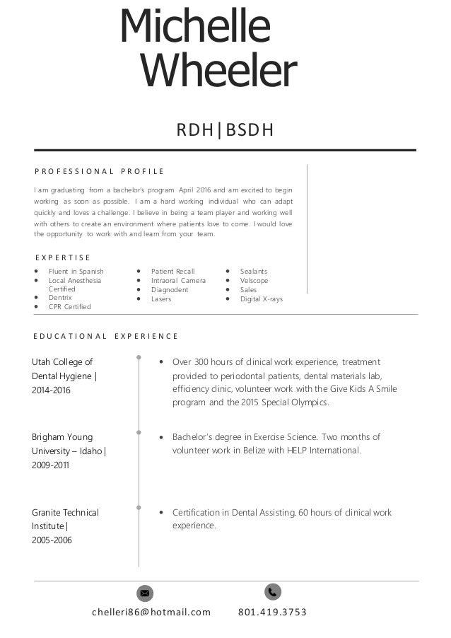 rdh resume