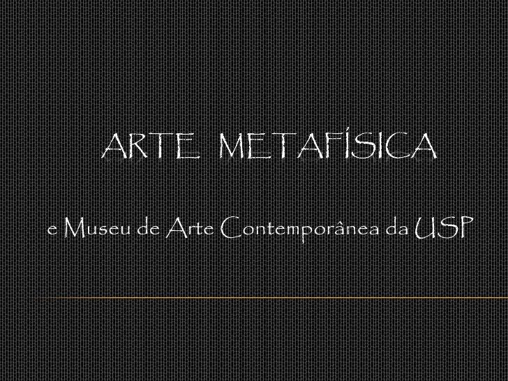e Museu de Arte Contemporânea da USP