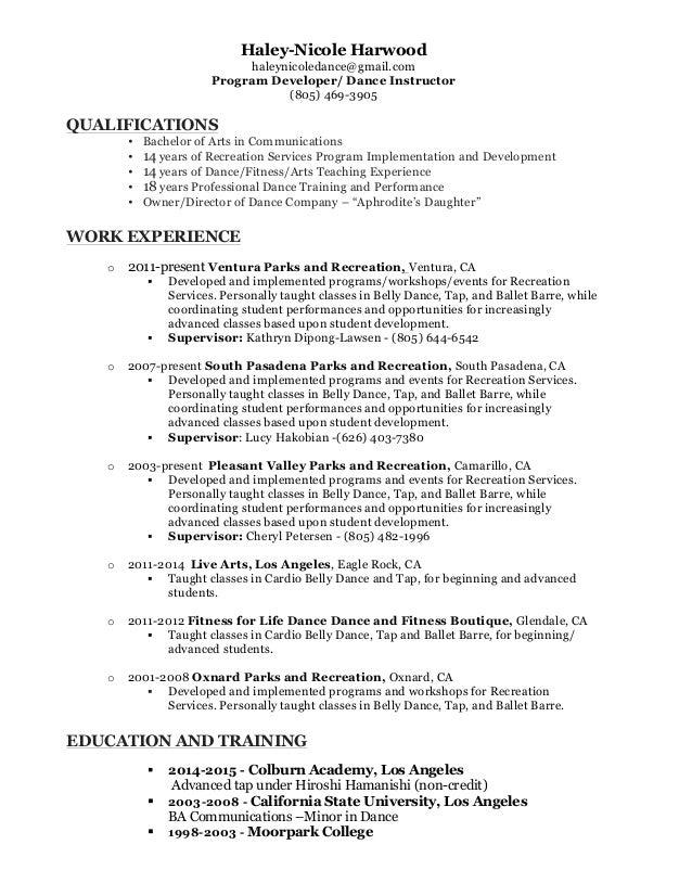 Harwood, Haley updated resume