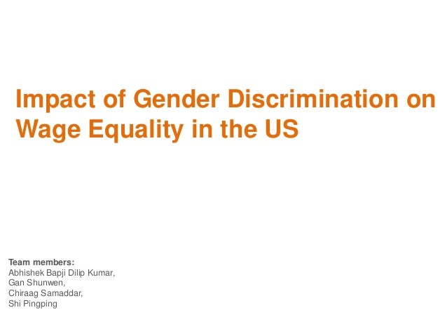 The negative effects of gender discrimination in the workplace