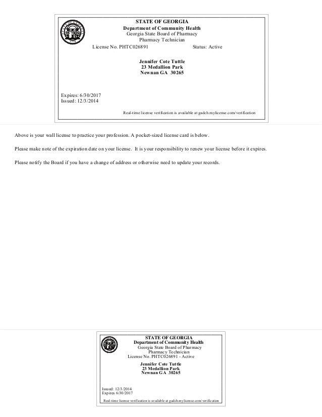 pharmacy license