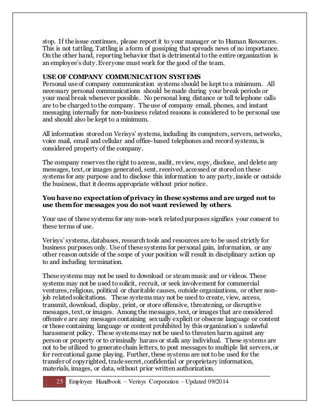 Employee Handbook September Without Washington State Revised - Employee handbook template washington state