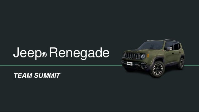 Jeep® Renegade TEAM SUMMIT
