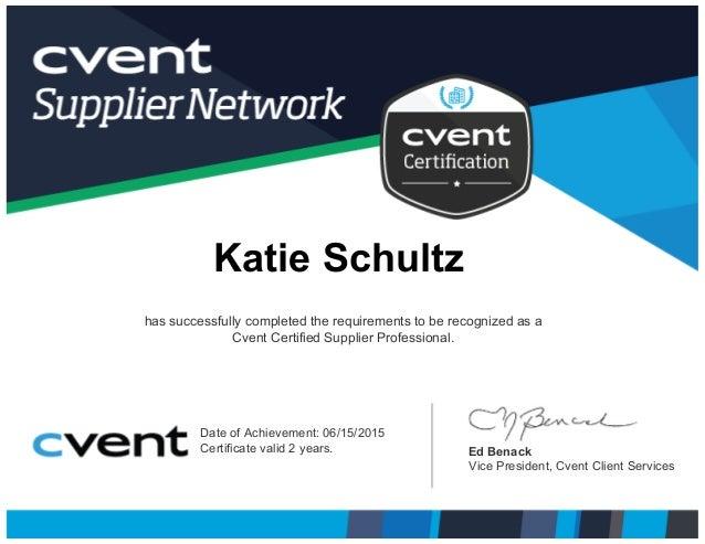 Cvent Certification