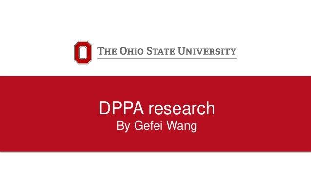 DPPA research By Gefei Wang