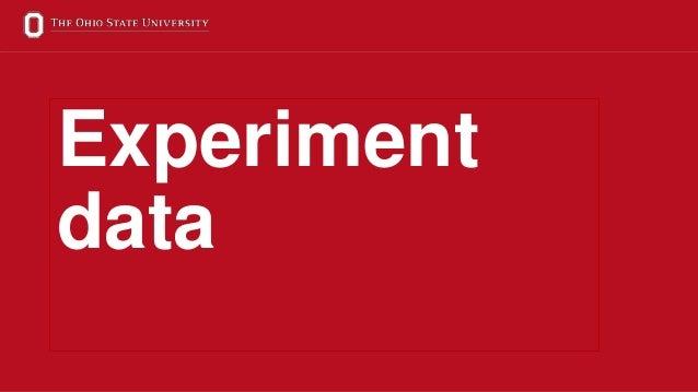 17 Experiment data
