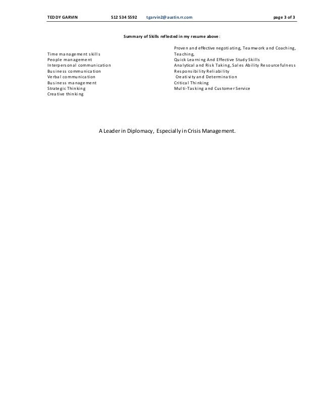 teddy garvin commercial property resume 5 18 2015