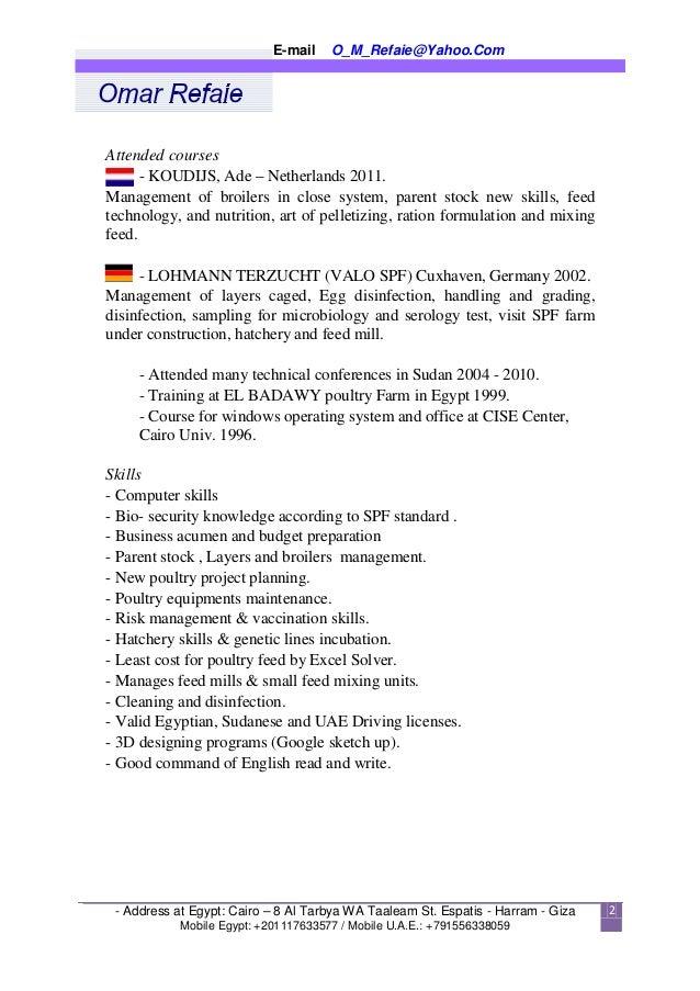 english arabic cv
