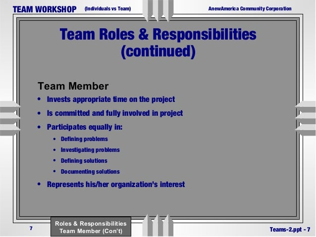Building teams by defining roles and responsibility in - Back office roles and responsibilities ...