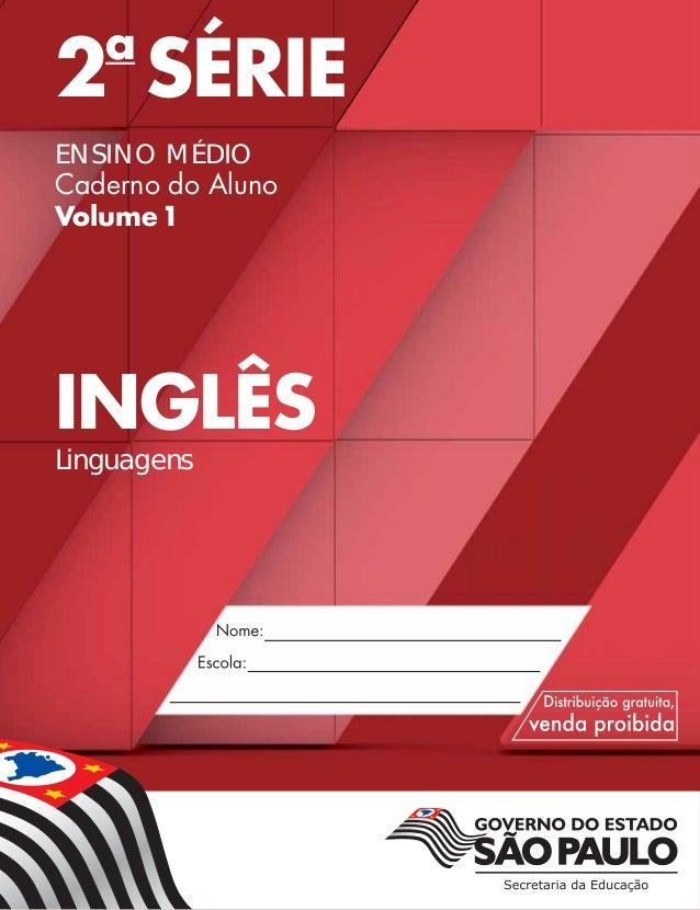2a SÉRIE ENSINO MÉDIO Caderno do Aluno Volume1 INGLÊS Linguagens