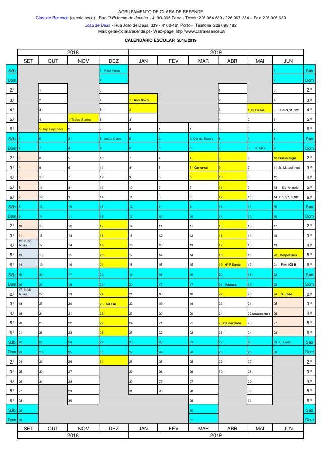 Calendario 18 19.2 Calendario Escolar 18 19