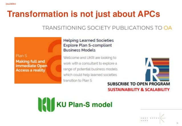 @oa2020ini 14 Transformation is not just about APCs