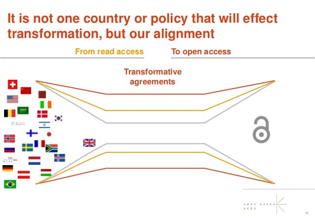 @oa2020ini 16 It is not one country or policy that will effect transformation, but our alignment Transformative agreements...