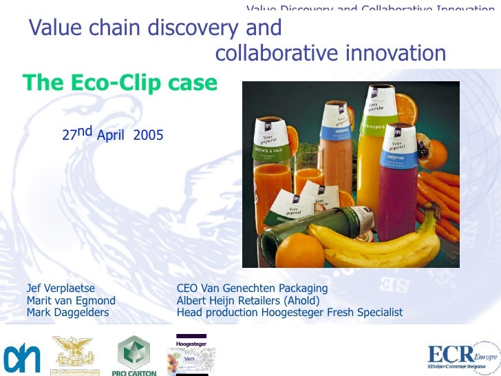 Value Discovery and Collaborative Innovation Value chain discovery and                    collaborative innovation The Eco...