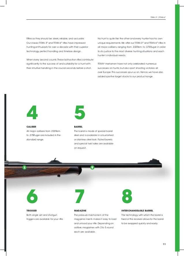 catálogo de rifles titan