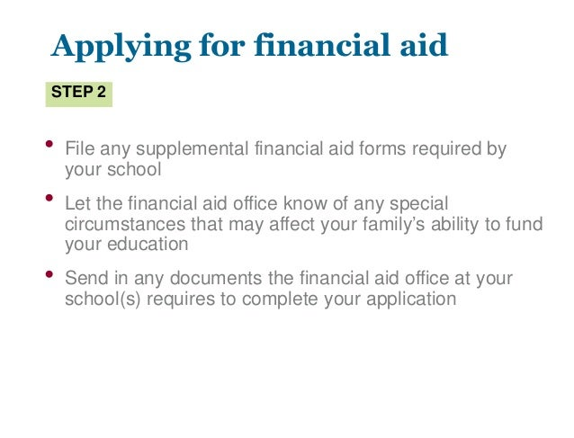 special circumstances financial aid letter example financial aid 24936 | financial aid 30 638