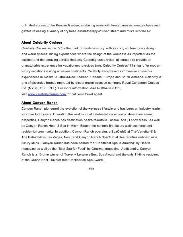 Celebrity Cruises Press Center