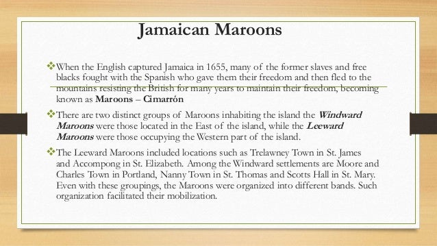 history sba maroons Download student guide for completing csec history sba error:  example:  a quote taken from the book, the history of the maroons, from their origin to the.