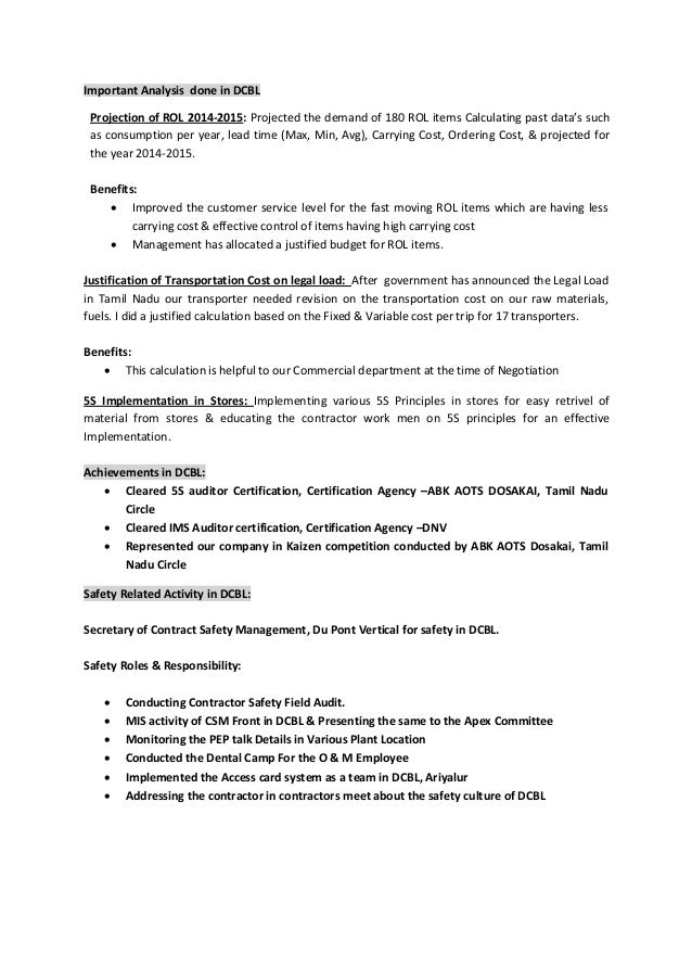 Sample Resume For Inventory Manager. inventory manager resume great ...